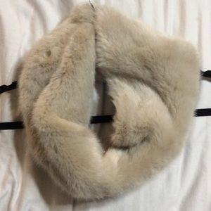 Zara faux fur infinity scarf